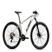 Bicicleta Aro 29 Ksw 24 Marchas Freio Hidráulico E Suspensão Cor: branco/preto tamanho Do Quadro:17  - 17