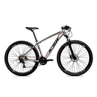 Bicicleta Aro 29 Ksw 21 Marchas Freio Hidráulico E Suspensão Cor: grafite/preto tamanho Do Quadro:15  - 15
