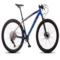 Bicicleta Aro 29 Dropp Z7x 12v Absolute, C/trava E Fr. Hidra - Cinza/azul - 19''