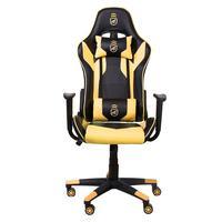 Cadeira Gamer Phantom Gshield, Preta Com Amarelo,  Corretor de Postura, Inclinação Avançada