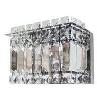 Kit 1 Arandela Quadrada Cristal (4572) + 1 Lâmpada G9 Inclusa