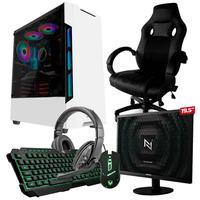 Pc Gamer Completo Start Nli82939 Amd 320ge 8gb vega 3 Integrado 1tb + Cadeira Gamer