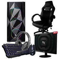 Pc Gamer Completo Nli82934 Amd 320ge 8gb (vega 3 Integrado) Ssd 240gb e Cadeira Gamer