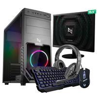 Kit - Pc Gamer Start Nli82874 Amd 320ge 8gb (vega 3 Integrado) Ssd 240gb + Monitor 19,5