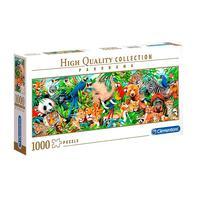 Puzzle 1000 Peças Panorama Vida Selvagem - Clementoni - Importado