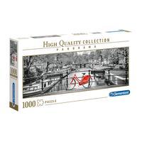 Puzzle 1000 Peças Panorama Bicicleta Em Amsterdam - Clementoni - Importado