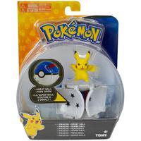 Pokémon - Conjunto De Pokébolas - Pikachu + Super Bola