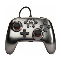 Controle Com Fio Powera Mario Silver 1517917-01 - Switch